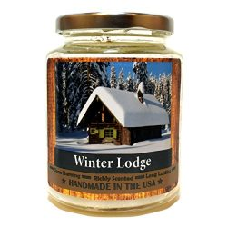 Winter Lodge, Super Scented Natural Wax Candle (12 oz)