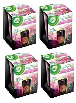 Air Wick Color Changing Black Edition Scented Candle, Summer Sweet Pea, 4.23 Ounce (Pack of 4)