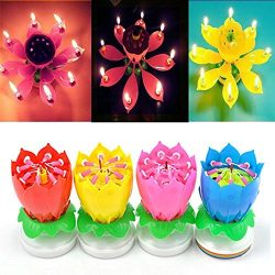 4 Pack Birthday Candles Cake Topper Candle Music Candle for Birthday