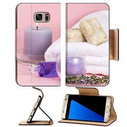 Luxlady Premium Samsung Galaxy S7 EDGE Flip Pu Leather Wallet Case IMAGE ID Spa set aroma candle ...