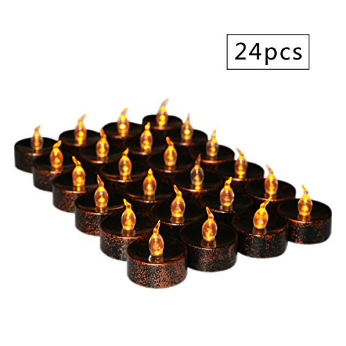 flameless tea lights electric battery fake tealight black led candles for votive wedding party. Black Bedroom Furniture Sets. Home Design Ideas