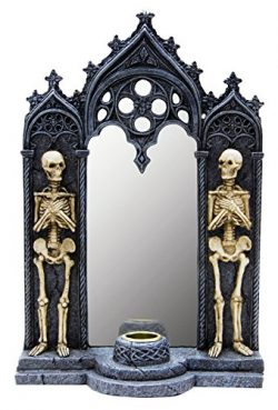 Skeleton Mirrored Candle Holder (Gray)