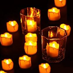 Electric Candles, Flickering LED Tea Light Candles, Dripping Style with Realistic Look, Flameles ...