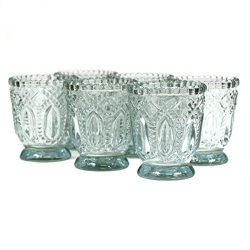 Koyal Wholesale Vintage Glass Candle Holder (Pack of 6), 3 x 2.75″