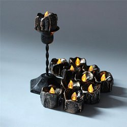 Highpot 12pcs Retro Halloween Light Electronic Tears Drop Candle LED TeaLight Light Halloween De ...