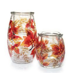 Yankee Candle Autumn Inspirations Falling Leaves Tea Light Candle Holder