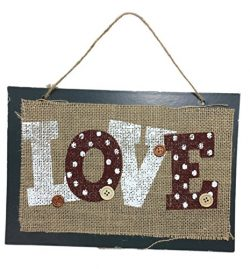 Burlap Hanging Wall/Door Decorations, 11.5″ (Love)