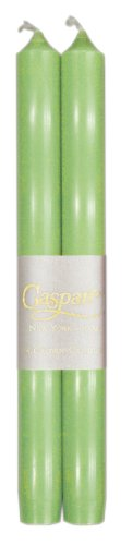 Entertaining with Caspari 10-Inch Taper Dripless, Smokeless, Unscented Candles, Spring Green, Bo ...