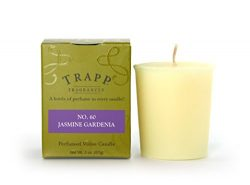 Trapp Signature Home Collection No. 60 Jasmine Gardenia Votive Scented Candle, Pack of 4