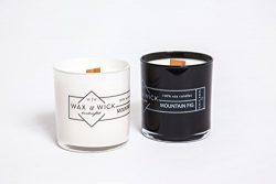 Scented Soy Candle: 100% Pure Soy Wax with Wood Double Wick | Burns Cleanly up to 60 Hrs | Drift ...