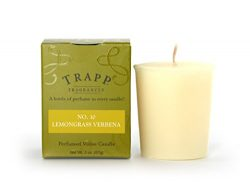 Trapp Signature Home Collection No. 10 Lemongrass Verbena Votive Scented Candle, Pack of 4