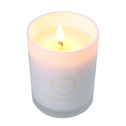 SUNNOW Aroma Candles Natural Irum Fragrance Aromatherapy Candle in a Porcelain Cup with a Metal  ...