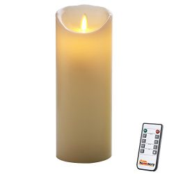 Homemory 9 Inch Flameless Candle with Timer, Remote, Moving Wick
