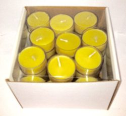 100% Organic Handmade Beeswax Tea Light Candles Pack of 50