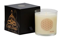 Sandalwood Wild Orchid Aromatherapy Luxury Candle | Flower of Life Sacred Geometry Spiritual Nat ...