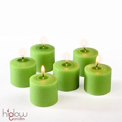 Votive Candle, Citronella Scented Lime Green Wax, Box of 12, for Wedding, Birthday, Holiday & ...