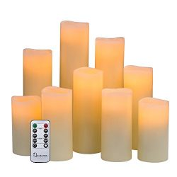 Flameless Candles Battery Operated Candles H 4″ 5″ 6″ 7″ 8″ 9̸ ...
