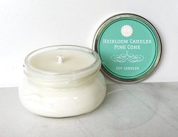 Christmas Candle – Pine Cone Scented Soy Candle – Handmade Holiday Candle, 3.3oz
