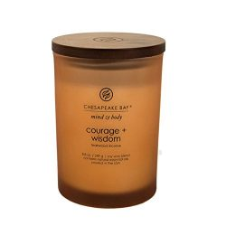 Chesapeake Bay Candle Mind & Body Collection Medium Jar Scented Candle, Courage + Wisdom