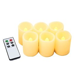 Flameless Candles with Remote ,Flickering LED Tea LightCandles for Christmas Decoration-Unsc ...