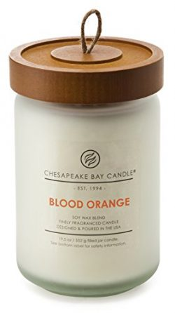 Chesapeake Bay Candle Heritage Collection Large Glass Jar Scented Candle with Lid, Blood Orange