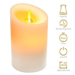 KKUP2U Essential Oil Diffuser Small 120ML 10 Hours Scented Candle Shape Light LED Auto Shut Two  ...
