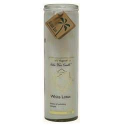 Aloha Bay Chakra Candle Jar, White Lotus