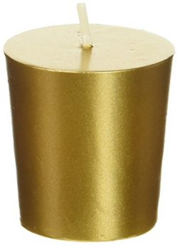 Zest Candle 12-Piece Votive Candles, Metallic Gold