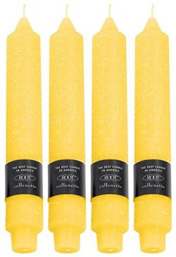 Root Unscented Timberline Collenettes Dinner Candles, 7-Inch, Sunflower, Box of 4