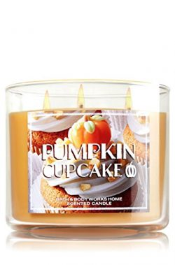 Bath & Body Works 14.5 Ounce 3-wick Scented Candle Pumpkin Cupcake Limited Edition 2015 Fall