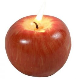Candle Red Apple, Wedding Birthday Christmas Favors Gift