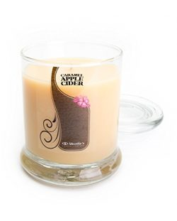 Caramel Apple Cider Candle – 10 Oz. Highly Scented Beige Jar Candle – Bakery Candles ...