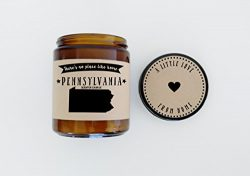 Pennsylvania Scented Candle Missing Home Homesick Gift Moving Gift New Home Gift No Place Like H ...