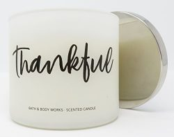 Bath & Body Works Thankful Sweet Cinnamon Pumpkin Candle 3 Wick 14.5 Ounce