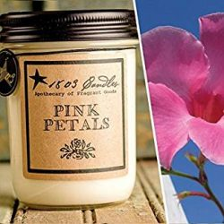 1803 Candles – 14 oz. Jar Soy Candles – Spring Scents (Pink Petals)