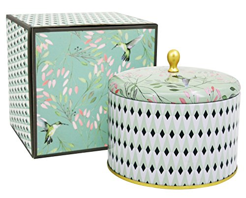 Scented Candles 14Oz White Tea Large Tin Candle 2 Wicks Natural Wax, Gift Candles for Birthday a ...