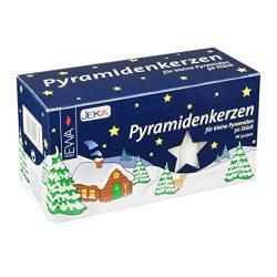 Jeka Kerzen Christmas Pyramid Carousel Candles, Medium 14mm   – White