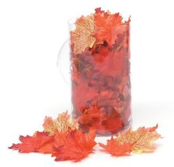 WGI Silk Screen Maple Leaves – Red/Orange/Yellow (100 Leaves)