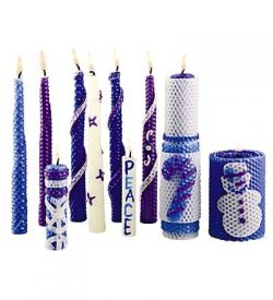 Winter-Themed Beeswax Candle Rolling Craft Kits