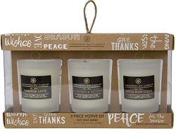 Chesapeake Bay Candle Heritage Collection Trio Votive Scented Candle Gift Set, Fall Fragrances