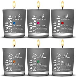 ArtNaturals Scented Candle Gift Set – 6 Piece Aromatherapy Set of Fragrance Soy Wax – Made ...