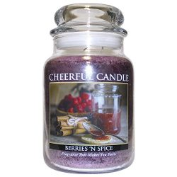 A Cheerful Giver Berries 'N Spice Jar Candles, 24 oz