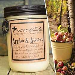 1803 Candles – 14 oz. Jar Soy Candles – Spring Scents (Apples and Acorns)