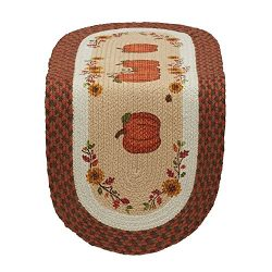 DII 14×36″ Jute/Burlap Table Runner, Country Pumpkins – Perfect for Fall, Thank ...