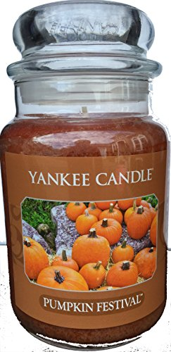Yankee Candle Pumpkin Festival 22oz Large Jar Spiced Pumpkin Fall Scent