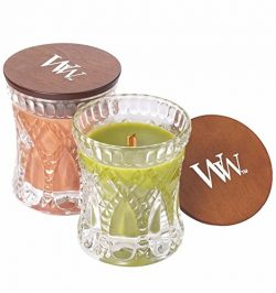 WoodWick PUMPKIN BUTTER and APPLE BASKET, Highly Scented Candles, Fragrance For The Season Two C ...