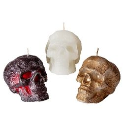 Candle Atelier 'Skull' Halloween Decoration Handmade Cast Candles, Fragrance-free, S ...