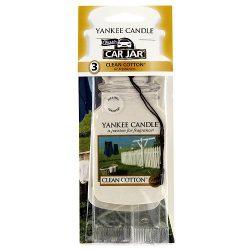 3 Yankee Candle Car Jar Clean Cotton