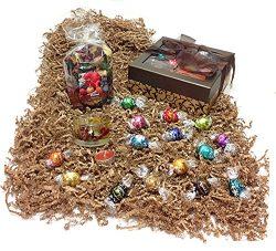 Autumn Gift Box – Lindt Lindor Gourmet Chocolate Truffles, Potpourri & Candleholder