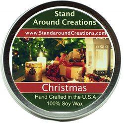 Premium 100% All Natural Soy Wax Aromatherapy Candle – 6 oz Tin Christmas: Christmas combi ...
